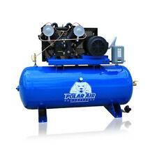 75 Hp Air Compressor Pressure Lubricated 2 Stage 3 Phase V4 120 Gallon