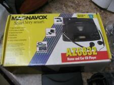 Magnavox Home and Car CD Player Model AZ6832 w/ AC/Car/Cassette Tape Adapter