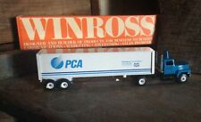 Vintage Die Cast Winross Collectible Advertising Tractor - Trailers , PCA
