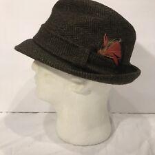 df1e901a7 Tweed Fedora/Trilby Vintage Hats for Men 7 1/8 Size for sale | eBay