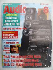 AUDIO 8/90 PIONEER CT 447,ECOUTON LQL 155,ELAC EL 160 2.DEUTSCH HD 316,SONOFER 6