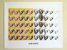 "ANDY WARHOL RARE VINTAGE LITHOGRAPH PRINT POP ART POSTER ""MARILYN DIPTYCH"" 1962"
