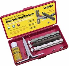 Lansky 3-Stone Natural Arkansas Kit Knife Sharpening System LKNAT
