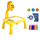 Kids Mini Led Projector Art Drawing Table Light Toy for Children Painting Board