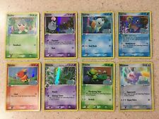 Nintendo Pokemon EX Crystal Guardians 8 Common Reverse Holo Cards Lot #4