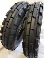 (2 TIRES + 2 TUBES) 6.50-16 8 PLY KNK33 3-Rib Farm Tractor Tires W/Tube 6.50x16