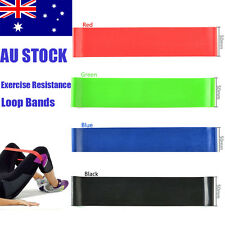 Set of 4 Exercise Resistance Loop Bands for Fitness Stretch Therapy Strength AU