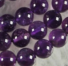 8mm Natural Russican Amethyst Gemstones Round Loose Beads 15''