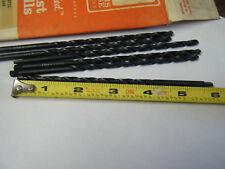 """Lot of 6 High Speed Metal 3/16"""" USA High Speed Metal Taper Twist Drill Bits ITW"""