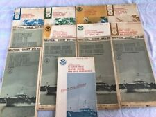 Lot of 13 Vintage NOAA Nautical Charts Maps: Florida, 1970's, in Sleeves. VGC!