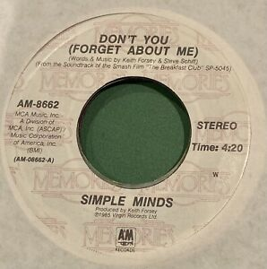 """Simple Minds 7"""" 45 Don't You (Forget About Me) + Alive & Kicking"""