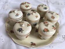Ancien Service de Pots à Crème Porcelaine de Limoges Unique / Boyer
