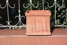 terracotta Pflanztopf  terrakotta Topf Zypresse 17 cm x 17 cm x 16 cm h 2,6 kg