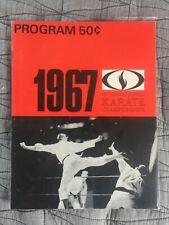 RARE ORIGINAL 1967 INTERNATIONAL KARATE CHAMPIONSHIPS PROGRAM