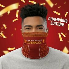 Liverpool 20 Home Champions Face Mask & Neck Gaiter - Washable and Reusable