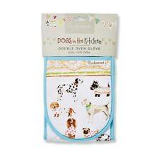 Dog Lovers Cotton Double Oven Glove Mitt Kitchen Gift Pug Scottie Dachshund