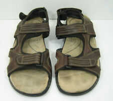 Men's Dockers Brown Leather Sandals Size 11 M Adjustable Front and Back Strap
