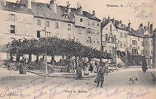 VESOUL place du marché éd bonvalot attelage chien timbrée 1904