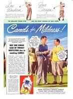 1949 Golf Legend Gene Sarazen photo Camels Cigarettes promo print ad