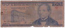 50 Pesos 1981 El Banco De Mexico M7602353 American Banknotes Company Circulated