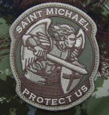 MODERN SAINT ST. MICHAEL PROTECT ARMY MULTICAM VELCRO® BRAND FASTENER PATCH