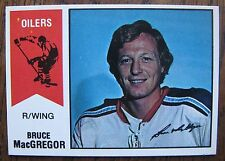 Bruce MacGregor / Bobby Whitlock 1974/75 OPC WHA Hockey Wrong Back Error Card