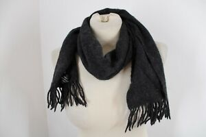 Imperial Charcoal Gray 100% Cashmere Mongolia Rectangle Scarf Muffler 12x50