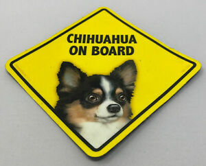 Chihuhua Dog On Board Magnet Laminated Car Pet Magnet NEW 6x6