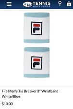 "Fila Men's Tie Breaker 3"" Wristband White/Blue"