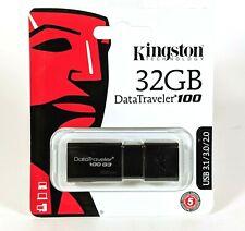Kingston 32GB DataTraveler 100 G3 USB 3.1 Flash Drive BRAND NEW!!
