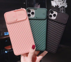 Mobile Phone Case for iPhone 11 8 7 Pro Max XR X/XS Slide Camera Lens Protector