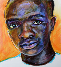 "Original.drawing portrait ""A guy from Kenya"" by Oxana Dubrovskaya."