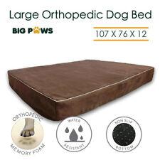 Memory Foam Dog Bed Orthopedic Large Dog Beds Pet Mat Cushion Water Resistant