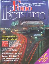 Fonoforum 9/83 MARANTZ sc-8/sm-8, PIONEER pl-707, Philips CD 202, Sawallisch