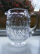 Heavy Vintage Cut Crystal Glass Water / Juice / Milk Jug - Height 6 inches.