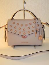 Michael Kors Small BRISTOL Pink Leather Satchel Crossbody Bag $328 broken clasp