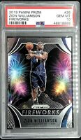Zion Williamson Rookie 2019-20 Panini Prizm Fireworks PSA 10 Gem Mint *QTY