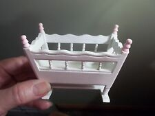 ADORABLE MINI CRADLE  - DOLL HOUSE MINIATURE
