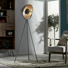 Zennox Tripod Diffuser Floor Lamp Spotlight Vintage Studio Modern Wooden Light