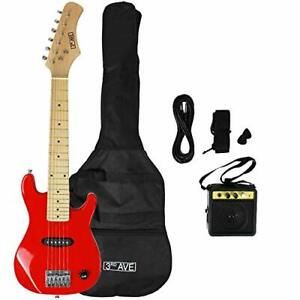 Junior Electric Guitar Beginner Pack with Amp - Red
