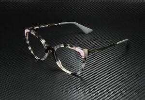 PRADA PR 12UV UAO1O1 Catwalk Spotted Opal Brown Demo Lens 53m Women's Eyeglasses