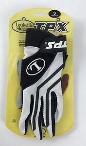 Louisville Slugger Tpx Freestyle 1.0 Batting Gloves Size S Black White Gray