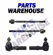 4 Pc New Inner & Outer Front Tie Rod Ends - Dodge Ram 1500 02-05, 08 1 Year Wrty