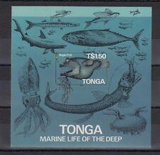 TIMBRE STAMP BLOC TONGA Y&T#6 POISSON FISH NEUF**/MNH-MINT 1985 ~B63