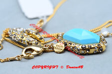 Gold Elements Short Pendant Necklace Alexis Bittar Turquoise Swarovski Crystal