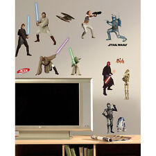 RoomMates Wandtattoo Star Wars Episode 1-3 Wandsticker Luke Padme Darth Maul