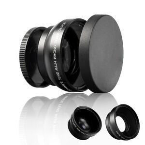 52mm Digital HD 0.45X Super Wide Angle Macro Lens for Canon Nikon Sony PeJCA Ky