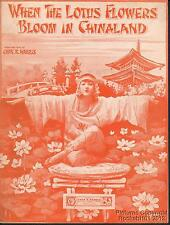 1919 Chas K Harris Sheet Music (When the Lotus Flowers Bloom in Chinaland)