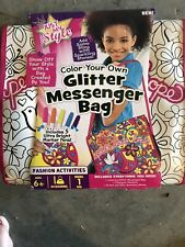 Just My Style Color Your Own Glitter Messenger Bag by Horizon Group Usa
