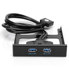 USB 3.0 Front Panel Hub 2 Port Expansion Bay 20 Pin to USB3.0 Bracket Cable O7P3